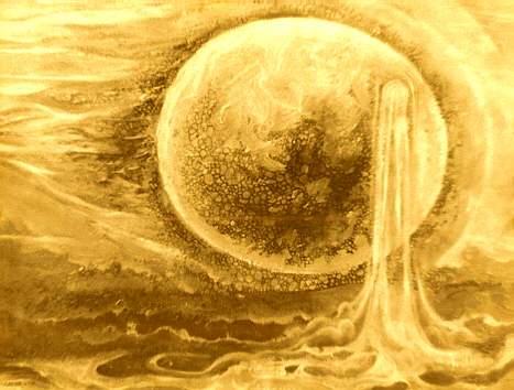 В огне рождалась мысль, она кипела и выросла из тела сильная и огненная сфера.
